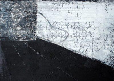 Begrenzung, MT auf Papier, 21x21cm