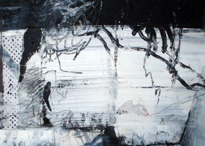 INNEN, 2009, MT auf Papier, 21x21cm