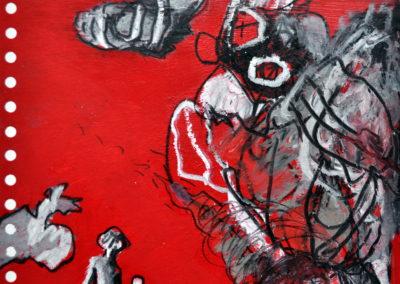 Leidenschaft, 2012, Mt auf Papier, 21x21cm