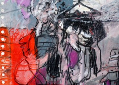 MODEMUFFEL, 2009, Mt auf Papier, 21X21cm