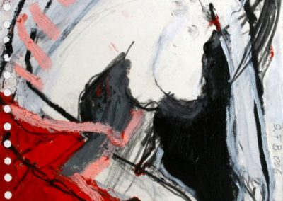 NUDE, 2006, Mt auf Papier, 21x21cm
