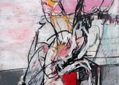 Nicht ohne Kubus, 2008, Mt auf Papier, 21x21 cm