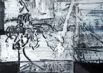 O.T., 2009, MT auf Papier, 21x21cm