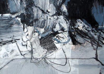 Raum und Zeit, 2008, MT auf Papier, 21x21cm