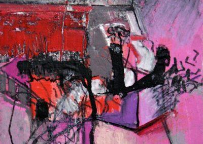 Raumerlebnis, 2009, Mt auf Papier, 21x21cm