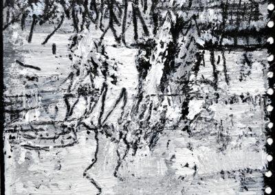 Spiegelung im Wasser 2, 2012, MT auf Papier, 21x21cm