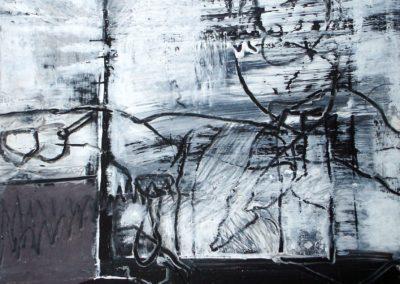 Tanzen befreit, 2009, MT auf Papier, 21x21cm