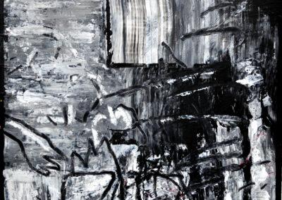 Versunkenes Gerät, 2012, MT auf Papier, 21x21cm