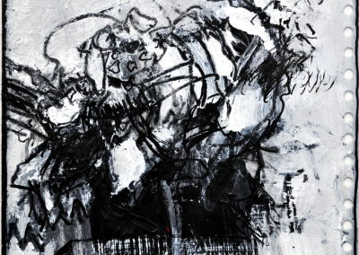 Wachsendes, 2011, MT auf Papier, 21x21cm