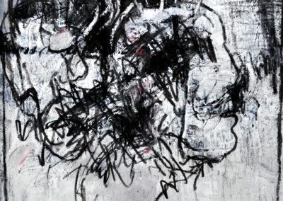 Zweisamkeit, 2012, MT auf Papier, 21x21cm